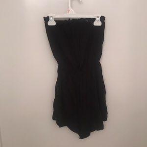 H&M black strapless romper